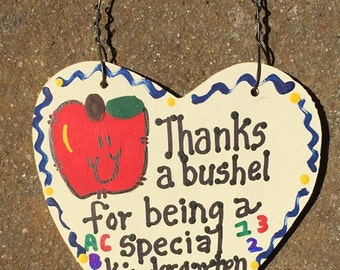 Teacher Gift 6001 Thanks a Bushel Kindergarten Teacher