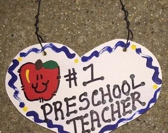 Teacher Gifts Number Preschool Teacher