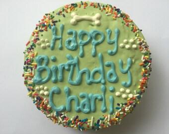 Dog Treats//Happy Birthday Homemade Birthday Cake for Dogs