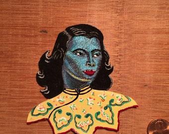 Blue Woman, Vladimir Tretchikoff Inspired pin /brooch