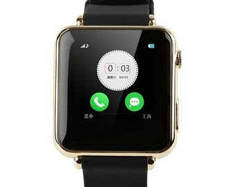 Unlock GSM Smart Watch Phone Bluetooth Synced iphone Android Smartphone ios Gold