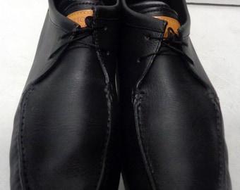 Louis Vuitton Loafers Black Leather Moccasins Men's Size 9