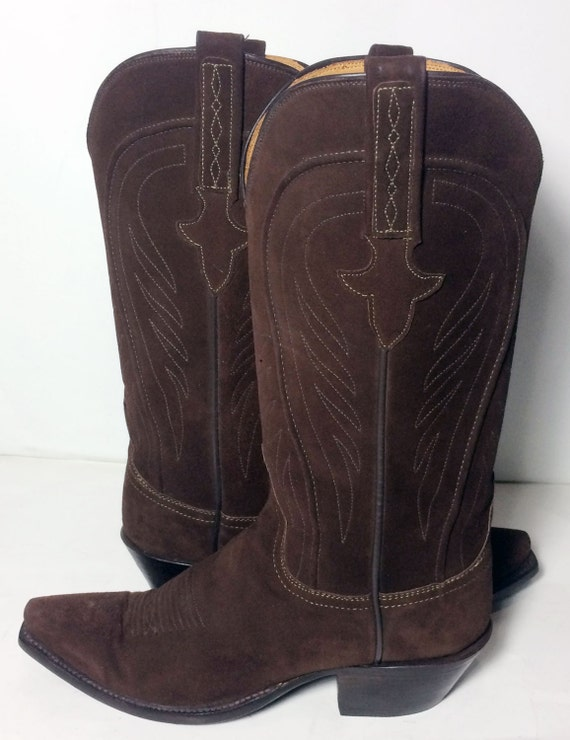lucchese 1883 brown suede leather western by eagleages
