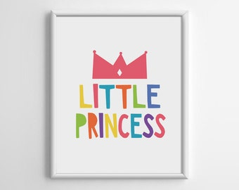 Little Princess, Nursery Art Printable, Kid Wall Decor, Scandinavian, Living Room Wall Art, Baby Shower Gift, 5x7 8x10 11x14 16x20, B036