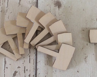 pack of 10 unpainted laser cut miniature faerie fairy garden signs perfect for fairy woodlands