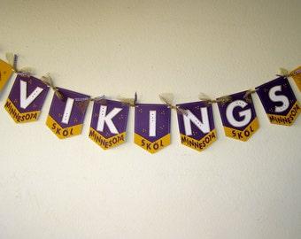 Minnesota Vikings Pennant Banner