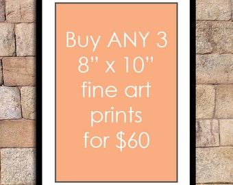 Any 3 - 8x10 prints for this special discounted price - fine art print deal giclee print