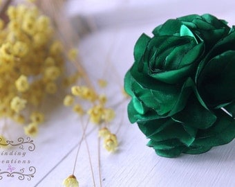 """ANY COLOR shabby chic flower """"Sophia"""":  green flower hair clip, green hair bow, womans hair flower, hair accessories, custom clip"""