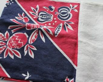 Vintage Tablecloth with fruit design