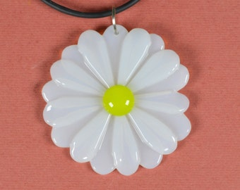 Handmade pendant made of  fused glass.