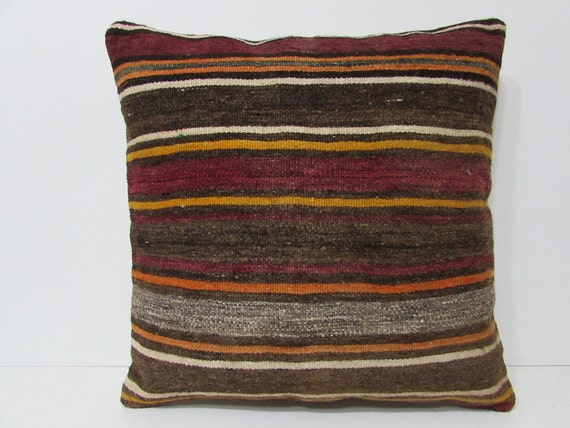 24x24 kilim pillow 24x24 modern throw by DECOLICKILIMPILLOWS