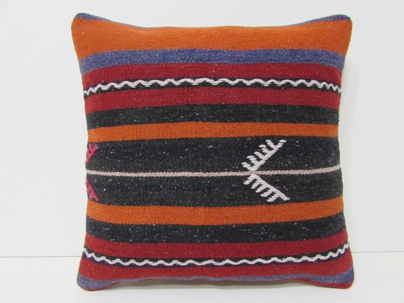 Throw Pillows On Clearance : kilim pillow cover knit bench throw pillow by DECOLICKILIMPILLOWS