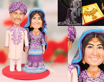 India Asia theme Personalised wedding cake topper (Free shipping)