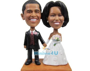 Custom handmade wedding cake topper & 3D doll  (Free Shipping Worldwide)