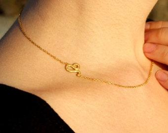 Sideways Leo Necklace - Zodiac Leo Necklace - Astrology Jewelry - Zodiac Necklace Gift