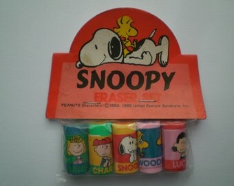 Sanrio Hallmark Peanuts Snoopy Mini Eraser Set Japan