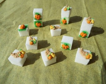 Thanksgiving Decorated Sugar Cubes Thanksgiving Collection    28 Pieces  Simply Darling