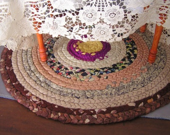 Silk Braided Mat for Doll Rug or Table Decoration 10-1/2""