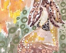 PREGNANCY ART ORIGINAL erotic female nudity fetal artwork birth fetus love pregnant best top art etsy.com etsy com etay com etay.com etsycom