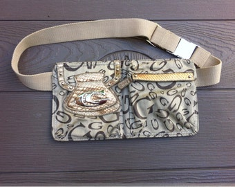Vintage Canvas Waist Bag Fanny Pack Bum Bag Hip Bag for Women Carlo G