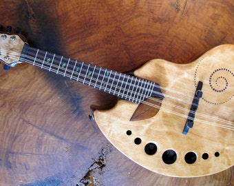 Fibonacci shaped Mandolin. Rays Rootworks, Sweet leaf.
