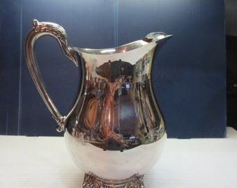 Sheffield Silver Co Silver Plate Footed Water Pitcher Jug