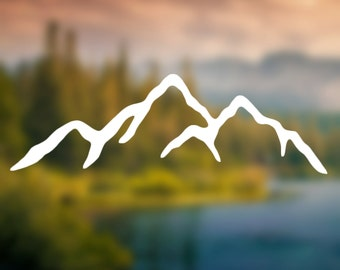Decal - Mountains Sticker - Car Decal, Laptop Decal, Macbook Decal, Ipad Decal