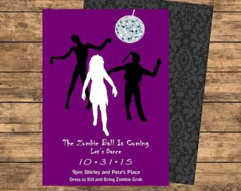 Zombie Ball Invitation - Purple