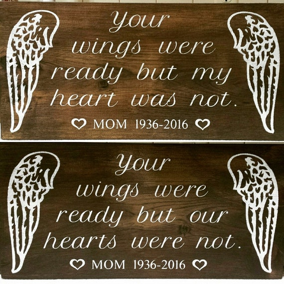 Your wings were ready but my heart was not personalized for Your wings were ready but my heart was not tattoo