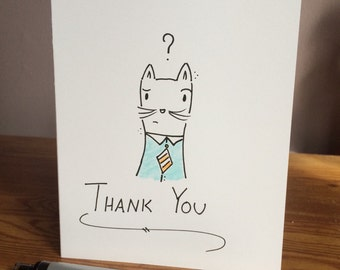 Cute Cat Thank You Card