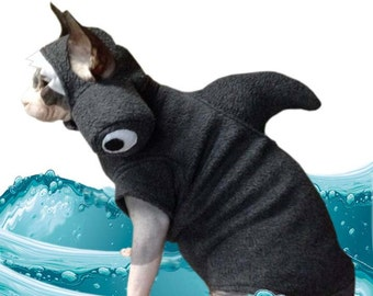 Shark HAT only.  Ships starting MARCH  2016 Pet Costume Hammerhead Hat Halloween Dog Hat, Hat for a cat, Shirt sold separately.