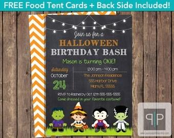 INSTANT DOWNLOAD Halloween Birthday Invitation, Editable Halloween Birthday Invitation, Printable Halloween Costume Birthday Invitation, P24