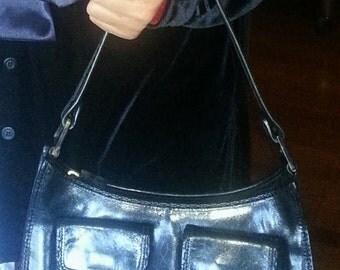 """Vintage Cole Haan Black Kelly Handbag Purse, 6"""" X 10"""""""