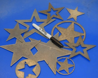 Decorative Metal Stars 10 at a time