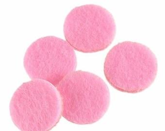 Aromatherapy Locket Pads, Diffuser Pads, Felt Pads, Pink Felt Perfume Pads, Aromatherapy Necklace, Scent Locket Pads, 22mm Locket Pads