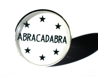 MAGIC RING - ABRACADABRA ring - Abracadabra jewelry - Quote Once Upon A time - Fairy Tale Jewelry