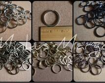 """1 1/4"""" Split Rings Large Key Chain O Loop Thick 8 Gauge Flat 32mm"""