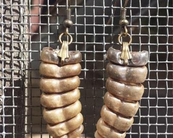 Montana Rattlesnake rattle earrings
