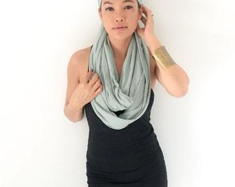 Onuma scarves-  Infinity scarf Green- Purple Winner scarf