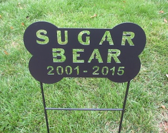 Dog Bone, Pet Memorial, Pet Memorials, MetalPet Memorials, Personalized  Signs, Graveyard