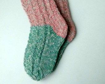 Size 23-25 EU/6,5-8 US Kids socks Lambswool socks Hand knitted warm winter socks Ready to ship socks One of a kind warm socks Hand made