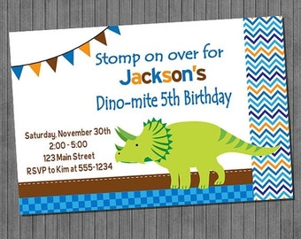 LIMITED TIME 40% OFF Dinosaur Birthday Invitations