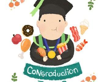 Cute Custom Single / Graduation Illustration