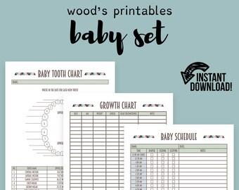 Baby Binder PDF Printable; Binder Printables, Home Binder, Household Binder, Baby Gift, Baby Printable, Lost Tooth, Birth Stats