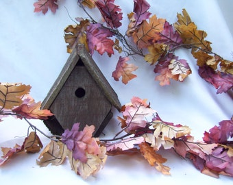 17 FT Brown Oak Fall Garland,Fall Leaf Garland, Autumn Garland