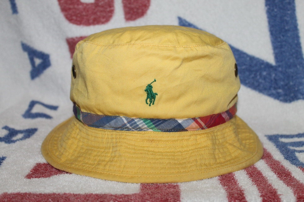 Vintage polo ralph lauren pony bucket hat golf fishing for Polo fishing hat