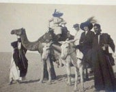1900s RPPC Postcard Grand Tour Egypt Desert Camel Donkey Dressed Up Folks 21332