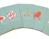 Jilly Jack Designs Summer Series Note Card Set
