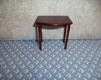 1:12 scale Dollhouse Miniature Cherry color end table