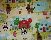 Fitted Pack n Play Sheet - Farm Yard